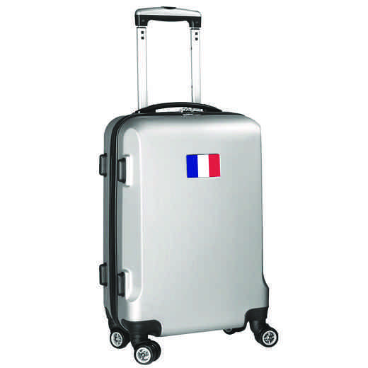 "FLFRL204-SILVER: France Flag 21"" Carry-On Spinner Silver"