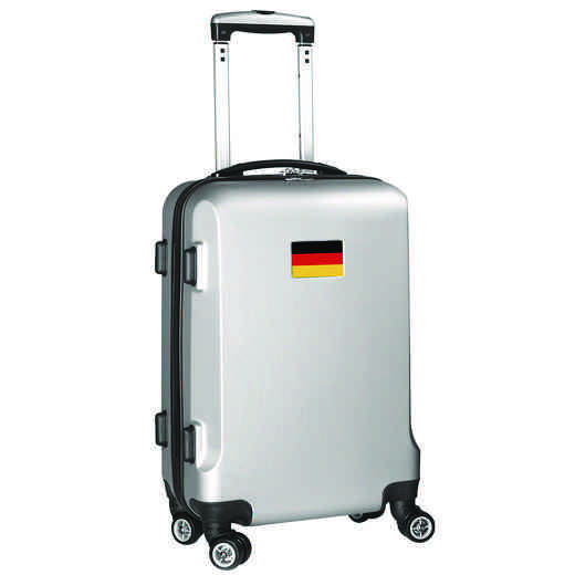 "FLGEL204-SILVER: Germany Flag 21"" Carry-On Spinner Silver"