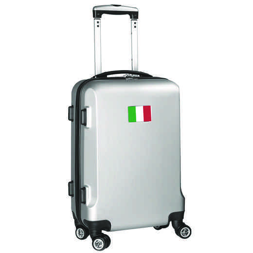 "FLITL204-SILVER: Italy Flag 21"" Carry-On Spinner Silver"