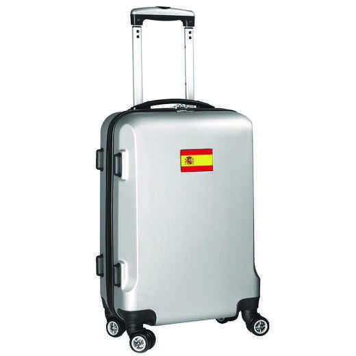 "FLSPL204-SILVER: Spain Flag 21"" Carry-On Spinner Silver"