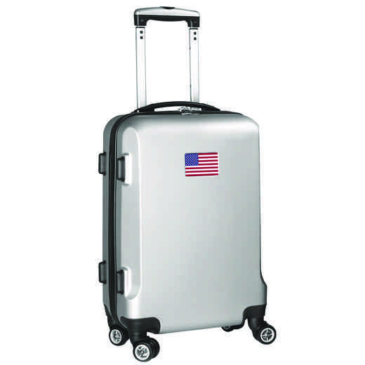 "FLUSL204-SILVER: American Flag 21"" Carry-On Spinner Silver"