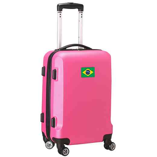 "FLBRL204-PINK: Brazil Flag 21"" Carry-On Spinner Pink"