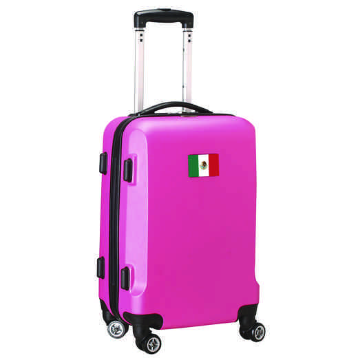 "FLMEL204-PINK: Mexico Flag 21"" Carry-On Spinner Pink"