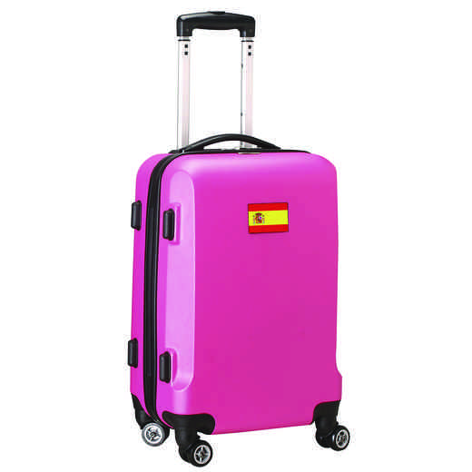 "FLSPL204-PINK: Spain Flag 21"" Carry-On Spinner Pink"