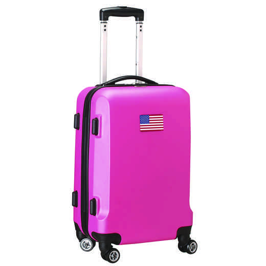 "FLUSL204-PINK: American Flag 21"" Carry-On Spinner Pink"