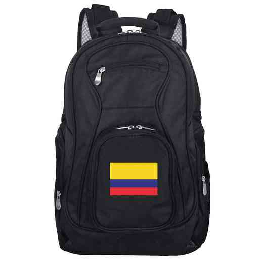 FLCOL704: Colombia Flag Backpack Black