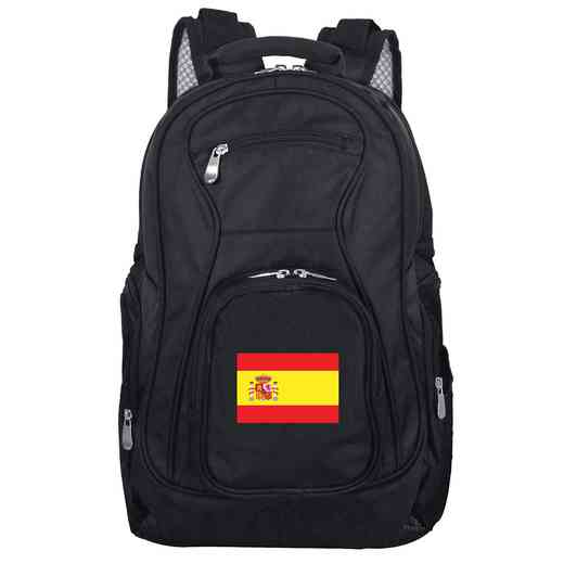 FLSPL704: Spain Flag Backpack Black