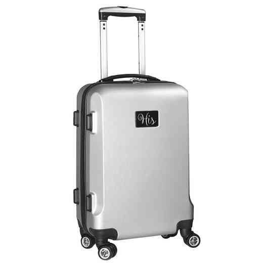 "INHIL204-SILVER: His 21"" Hardcase Carry-On Spinner Silver"