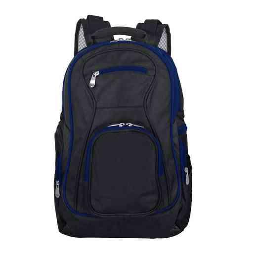 PLZZL708-NAVY: Navy Trim Blank Backpack