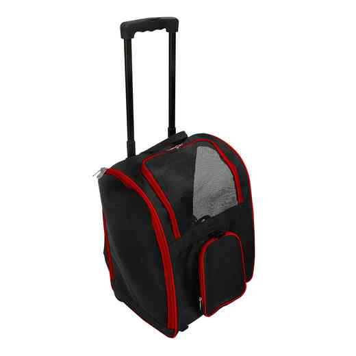 PLZZL902-RED: Red Pet Carrier Wheeled Duffel