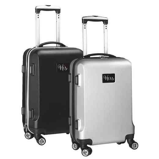 INSEL204-3: Set His and Hers Luggage gift Black n Gray ( His/Hers)