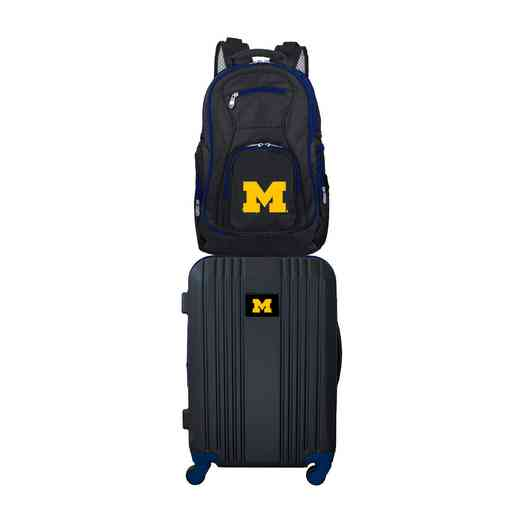 CLMCL108: NCAA Michigan Wolverines 2 PC ST Luggage / Backpack