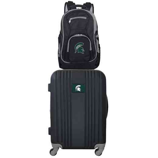 CLMSL108: NCAA Michigan State Spartans 2 PC ST Luggage / Backpack