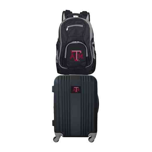 CLTAL108: NCAA Texas A&M Aggies 2 PC ST Luggage / Backpack