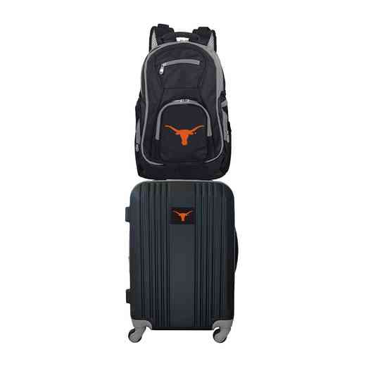 CLTXL108: NCAA Texas Longhorns 2 PC ST Luggage / Backpack