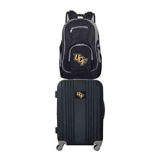 CLCFL108: NCAA Central Florida Golden Knights 2 PC ST Luggage/Backpack