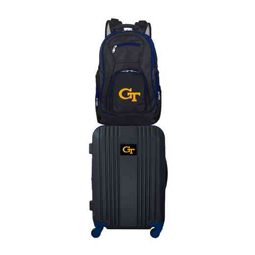 CLGTL108: NCAA Georgia Tch Yellow Jackets 2 PC ST Luggage / Backpack