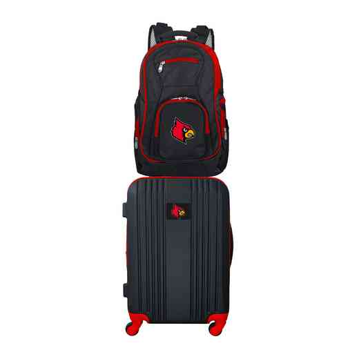CLLOL108: NCAA Louisville Cardinals 2 PC ST Luggage / Backpack