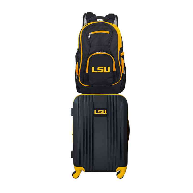 CLLSL108: NCAA Louisiana Tigers 2 PC ST Luggage / Backpack