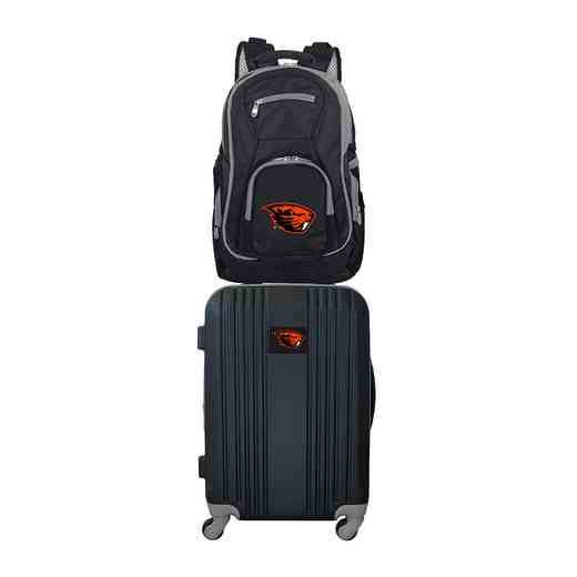 CLOGL108: NCAA Oregon State Beavers 2 PC ST Luggage / Backpack