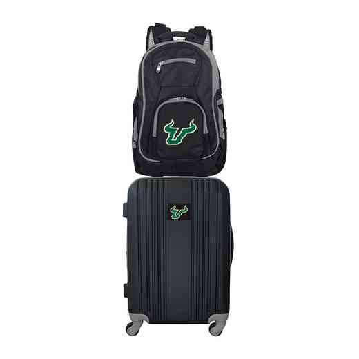 CLSFL108: NCAA South Florida Bulls 2 PC ST Luggage / Backpack