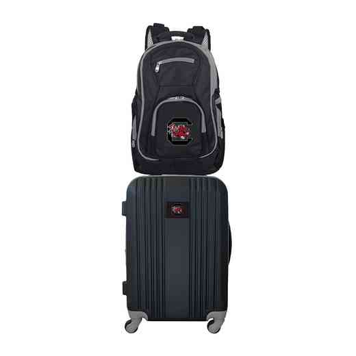 CLSOL108: NCAA South Carolina Gamecocks 2 PC ST Luggage / Backpack