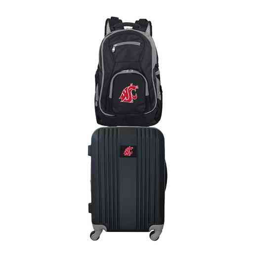 CLWSL108: NCAA Washington State Cougars 2 PC ST Luggage / Backpack