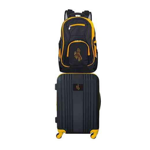 CLWYL108: NCAA Wyoming Cowboys 2 PC ST Luggage / Backpack