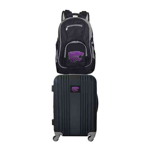 CLKSL108: NCAA Kansas State Wildcats 2 PC ST Luggage / Backpack