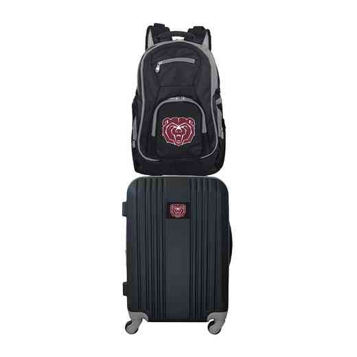 CLMBL108: NCAA Missouri State Unv. Bears 2 PC ST Luggage / Backpack
