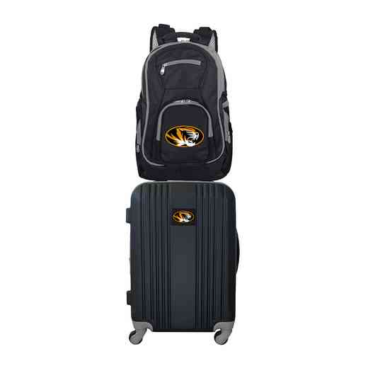 CLMOL108: NCAA Missouri Tigers 2 PC ST Luggage / Backpack