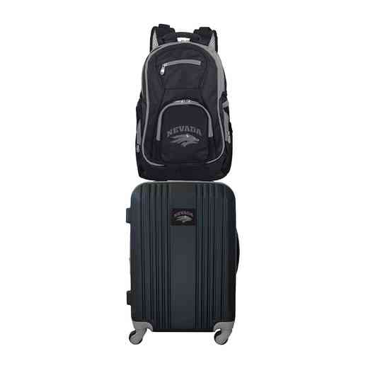 CLNAL108: NCAA Nevada Wolf Pack 2 PC ST Luggage / Backpack