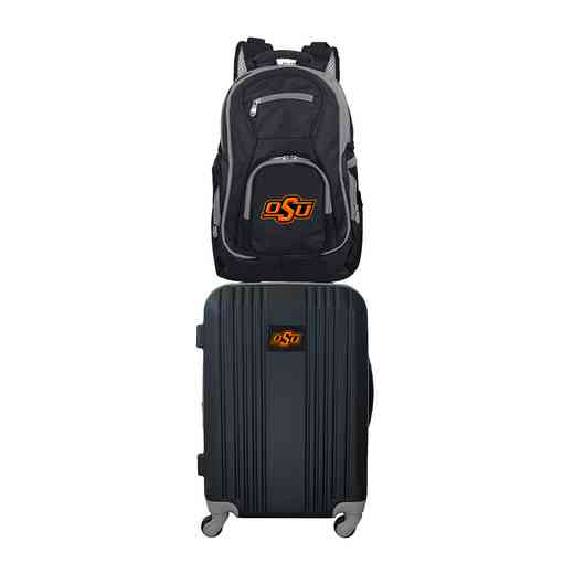 CLOKL108: NCAA Oklahoma State Cowboys 2 PC ST Luggage / Backpack