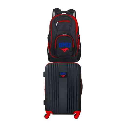 CLSML108: NCAA Southern Methodist Mustangs 2 PC ST Luggage / Backpack