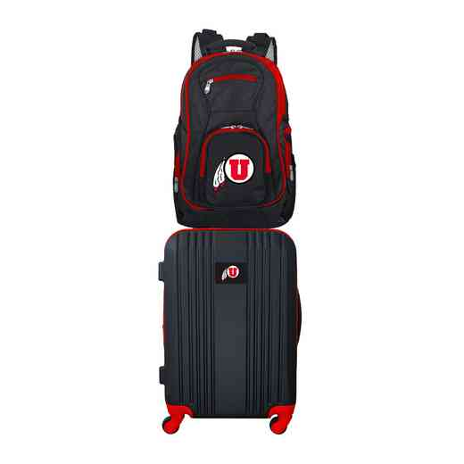 CLUTL108: NCAA Utah Utes 2 PC ST Luggage / Backpack