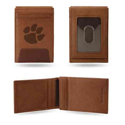 FPW120201: CLEMSON PREMIUM LEATHER FRONT POCKET WALLET
