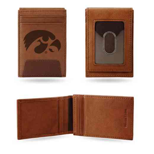FPW250101: IOWA UNIVERSITY PREMIUM LEATHER FRONT POCKET WALLET