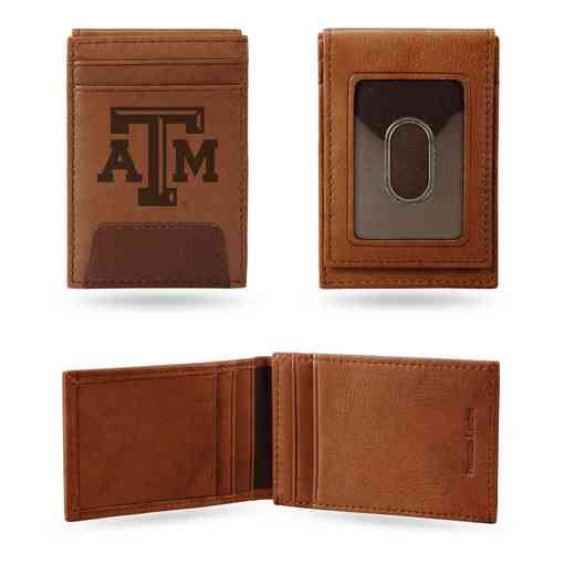 FPW260201: TEXAS A&M PREMIUM LEATHER FRONT POCKET WALLET