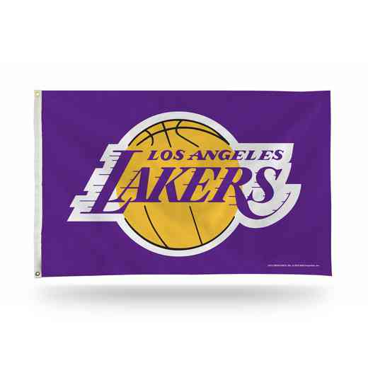 FGB82005: RICO LOS ANGELES LAKERS BANNER FLAG PURPLE