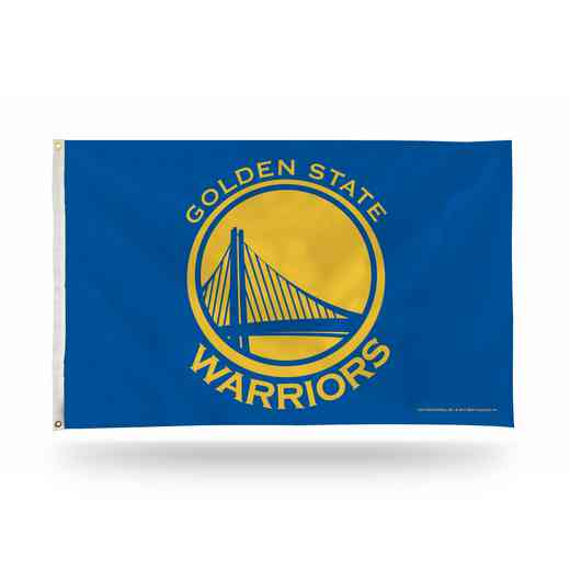 FGB96005: RICO GOLDEN ST WARRIORS BANNER FLAG - BLUE BACKGROUND