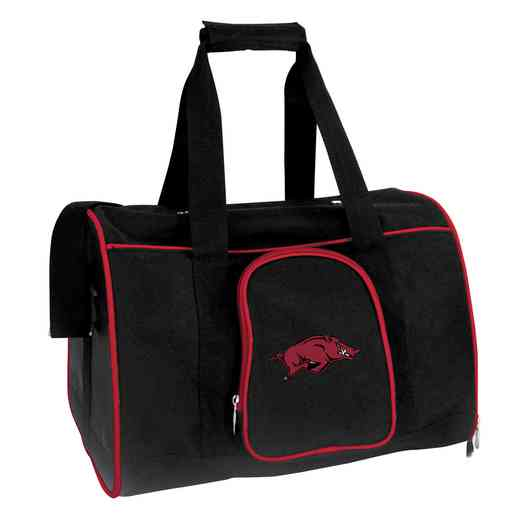 CLARL901: NCAA Arkansas Razorbacks Pet Carrier Premium 16in bag
