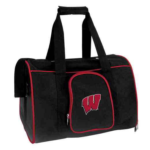 CLWIL901: NCAA Wisconsin Badgers Pet Carrier Premium 16in bag