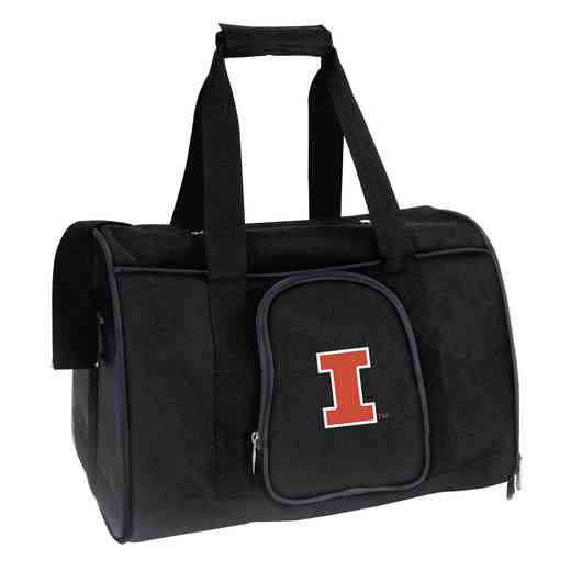 CLILL901: NCAA Illinois Fighting Illini Pet Carrier Premium 16in bag