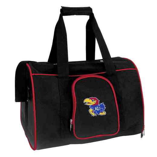 CLKUL901: NCAA Kansas Jayhawks Pet Carrier Premium 16in bag