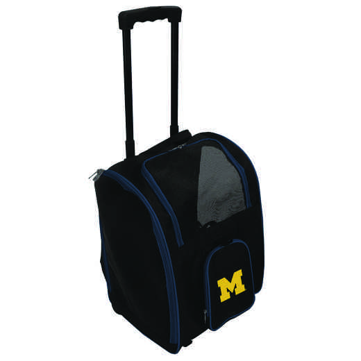 CLMCL902: NCAA Michigan Wolverines Pet Carrier Premium bag W/ wheels