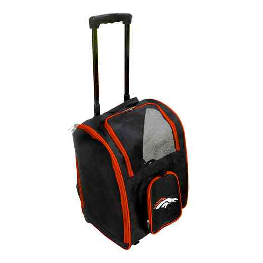 NFDBL902: NFL Denver Broncos Pet Carrier Premium bag W/ wheels