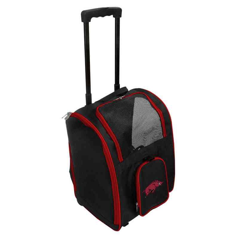 CLARL902: NCAA Arkansas Razorbacks Pet Carrier Premium bag W/ wheels