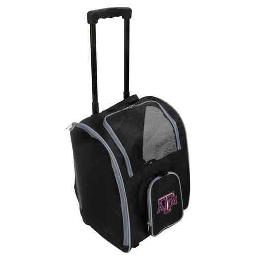 CLTAL902: NCAA Texas A&M Aggies Pet Carrier Premium bag W/ wheels