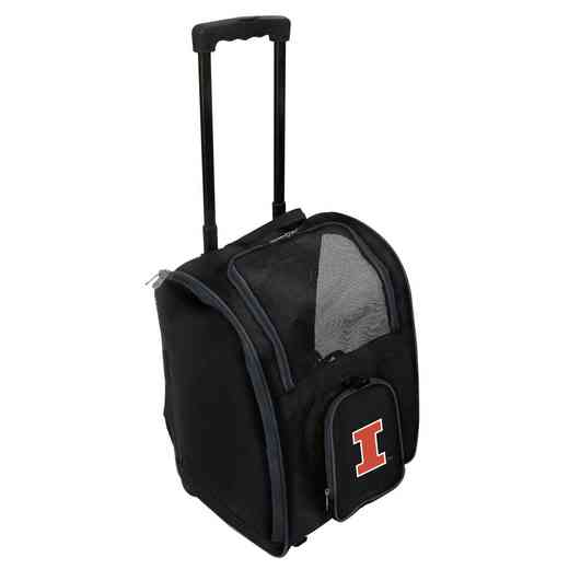 CLILL902: NCAA Illinois Fighting Illini Pet Carrier Prem bag W/wheels