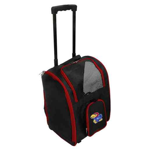 CLKUL902: NCAA Kansas Jayhawks Pet Carrier Premium bag W/ wheels